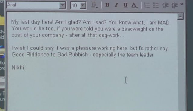 Arinenal: Funny Resignation Letter