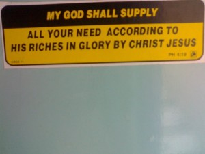 My God shall supply