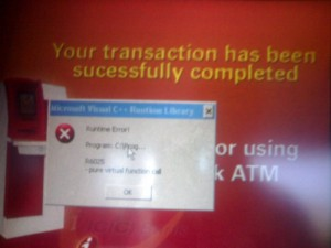 Bug at ICICI ATM